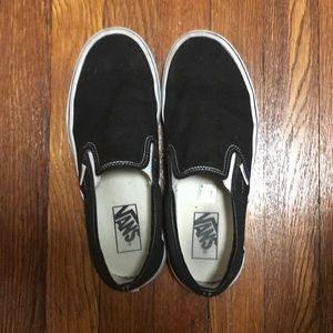 Vans core classic black slip on size 8.5 Women's